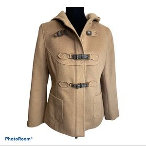 Ann Taylor Loft 8P wool toggle duffel coat